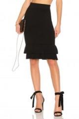 LPA SKIRT 582 – black tiered hem pencil skirts