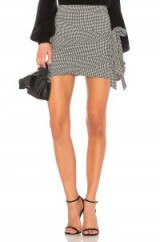 LPA X REVOLVE 561 – houndstooth check print mini skirts – draped – wrap style