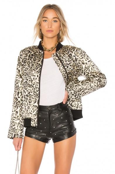 LPA X REVOLVE 575 | lurex leopard print bomber jackets | animal prints