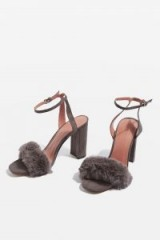 MAISON Faux Fur Sandals ~ fluffy party shoes