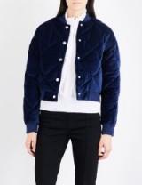 MAJE Balou cotton-velvet bomber jacket | navy-blue jackets