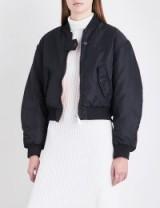 Maje x Schott Brooklyn reversible shell bomber jacket | casual black jackets