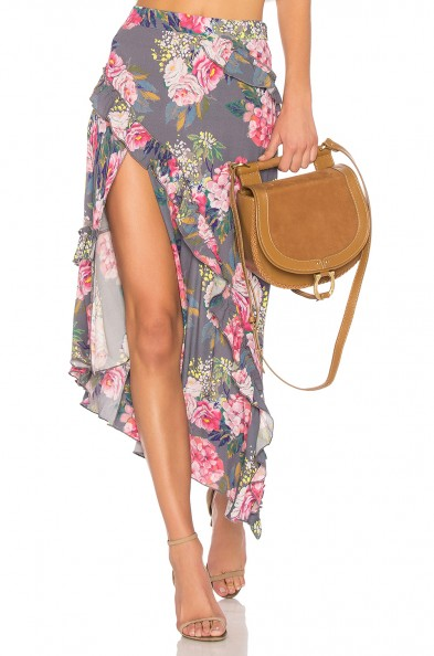 MAJORELLE TALLULAH SKIRT / floral ruffle trim skirts
