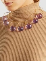 MARNI‎ Gold-Tone Plexiglas Choker Necklace ~ statement jewellery