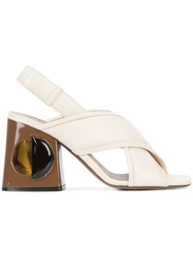 MARNI Runway sculptural shoes / chunky heel sandals