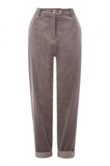 Native Youth Mini Cord Leg Trousers ~ grey corduroy pants