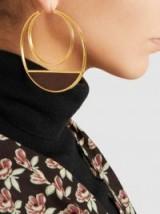 MONICA SORDO Callao Earrings | large gold hoops