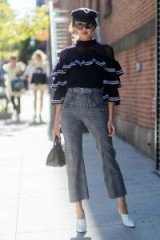 Ruffles and checks…New York street style during Fashion Week, S/S 2018 – stylish outfits