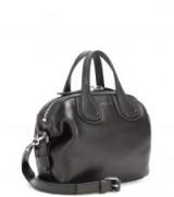 Hailey Baldwin small black handbag in Milan, GIVENCHY Nightingale Micro leather tote, during Fashion Week, September 2017.