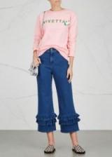 VIVETTA Nuovo Messico ruffle-trimmed jeans