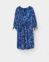 JOULES OPHELIA EMPIRE LINE DRESS / blue pheasant print dresses
