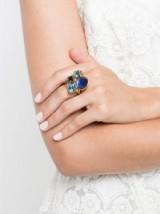 OSCAR DE LA RENTA geometric ring | blue stone rings | designer fashion jewellery