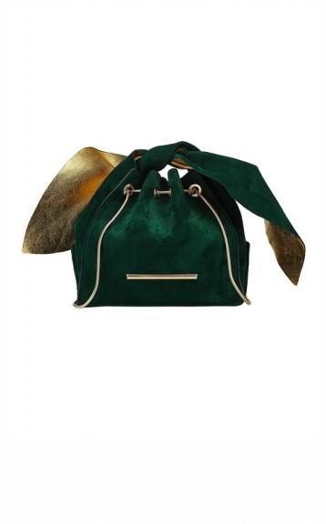 Roland Mouret PAN-PAN BAG / green and gold bags