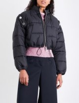 3.1 PHILLIP LIM Detachable-sleeve quilted shell puffer jacket | short bomber jackets