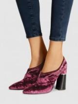 3.1 PHILLIP LIM Kyoto Stretch Crushed Velvet High Heel Bootie | luxe booties | chunky heels