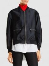 3.1 PHILLIP LIM Shirt-Hem Satin Bomber Jacket