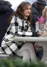 Monochrome coats ~ Blair Waldorf black and white check coat