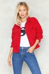 Nasty Gal Power Corduroy Jacket – red cord jackets