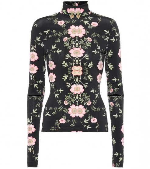 PREEN BY THORNTON BREGAZZI Bernadetta floral-printed top / fitted high neck tops - flipped