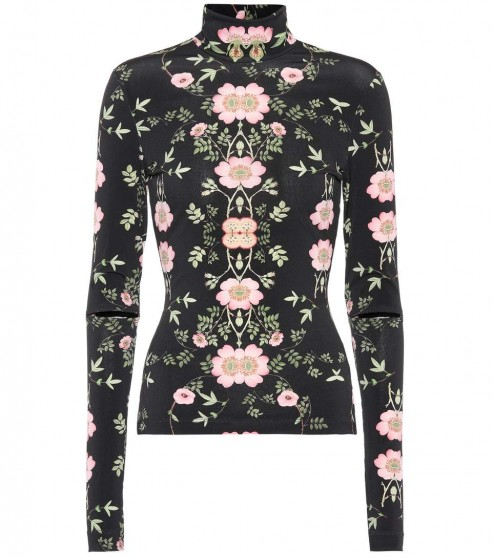 PREEN BY THORNTON BREGAZZI Bernadetta floral-printed top / fitted high neck tops