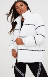 PRETTYLITTLETHING WHITE PUFFER COAT – padded jackets – pretty little thing coats