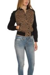 R13 Leopard Combo Jacket | animal print bomber jackets