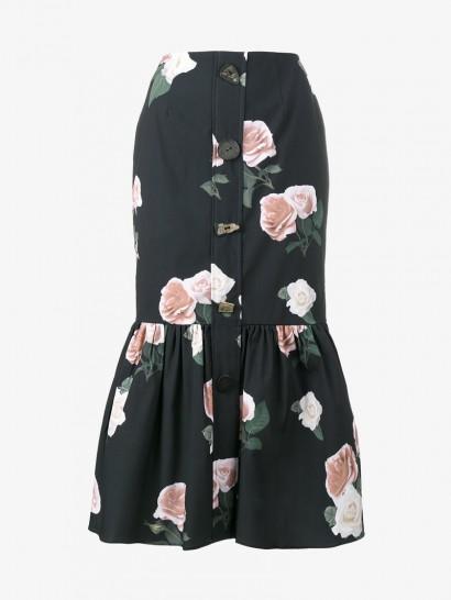 Rejina Pyo Paula Floral Print Skirt / pleated hem skirts