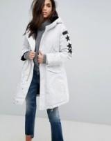 Replay Parka Coat ~ white winter coats ~ stylish parkas