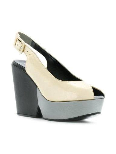 ROBERT CLERGERIE Dylanan platform sandals / chunky slingback platforms