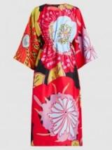 SOFIE D'HOORE Dash Printed Silk-Habotai Dress | kimono sleeve dresses | colourful bold prints