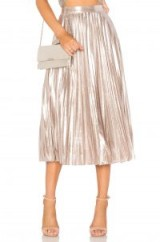 1. STATE PLEATED MIDI SKIRT ~ metallic silver skirts