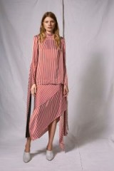 Topshop ~ Striped Knot Skirt by Boutique | asymmetric candy stripe skirts