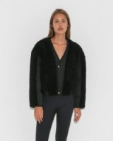 Alexander Wang TWILL BOMBER WITH SHEARLING