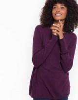 JOULES TARA CURVED HEM JUMPER / plum jumpers / purple knitwear