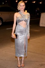 Diane Kruger in a metallic silver Prabal Gurung cut out dress at the 2017 TIFF – stylish women – glamorous outfits