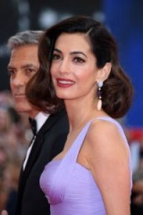 Amal Clooney's retro look at the 74th Venice Film Festival ~ celebrity hair and beauty