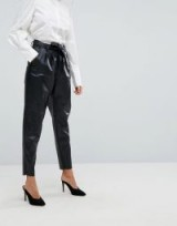Vero Moda Leather Look Trousers | high waist tapered pants
