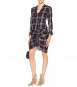 VERONICA BEARD Cotton-blend shirt dress – check print dresses