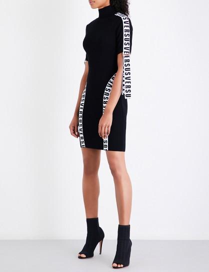 VERSUS VERSACE Logo-tape knitted dress