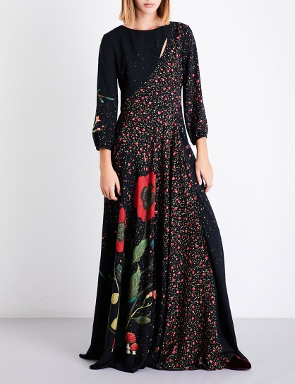 VILSHENKO Katia floral-print silk maxi dress