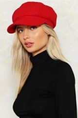 Nasty Gal You Stay Here Baker Boy Cap ~ red newsboy caps ~ casual peak hats