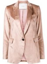 ADAM LIPPES boyfriend silk corduroy blazer – pink cord blazers – luxe jackets
