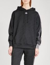 ADIDAS X ALEXANDER WANG Oversized jacquard hoody | black designer hoodies | sports/leisurewear