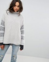 All Saints Keats Oversized Funnel Neck Jumper | chunky jumpers