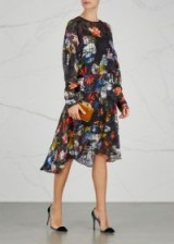 PREEN BY THORNTON BREGAZZI Amias floral-print devoré dress