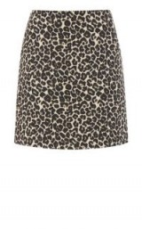 WAREHOUSE ANIMAL JACQUARD SKIRT | leopard print skirts