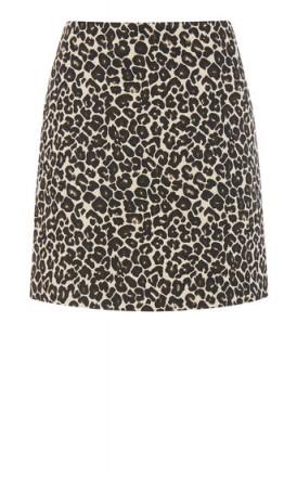 WAREHOUSE ANIMAL JACQUARD SKIRT   leopard print skirts