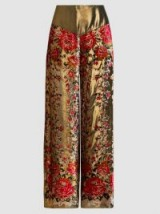 ANNA SUI‎ Garland Metallic Panel Wide-Leg Trousers