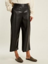 S MAX MARA Aosta culottes | black faux leather cropped pants