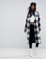 ASOS Check Slim Coat with Pocket Detail / checked coats